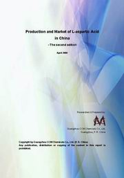 Aspartic Acid Production & Market in China