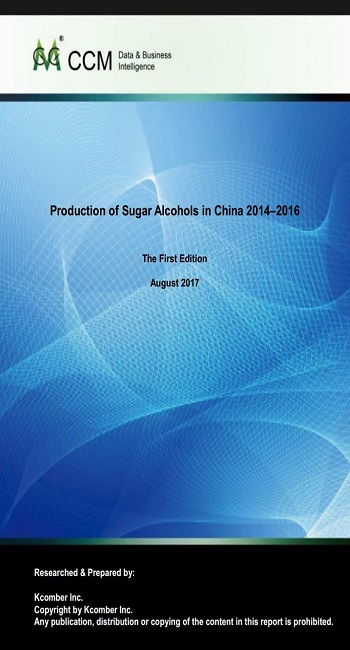 Production of Sugar Alcohols in China 2014–2016