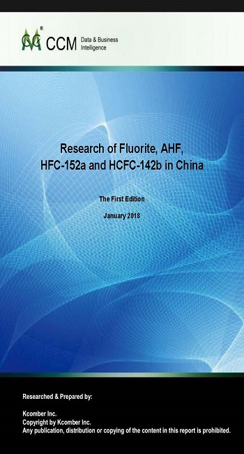 Research of Fluorite, AHF, HFC-152a and HCFC-142b in China