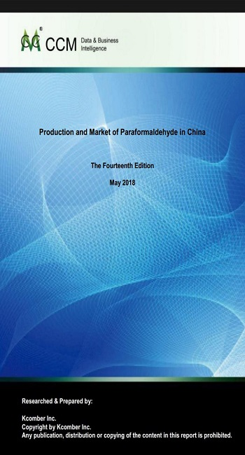 Production and Market of Paraformaldehyde in China