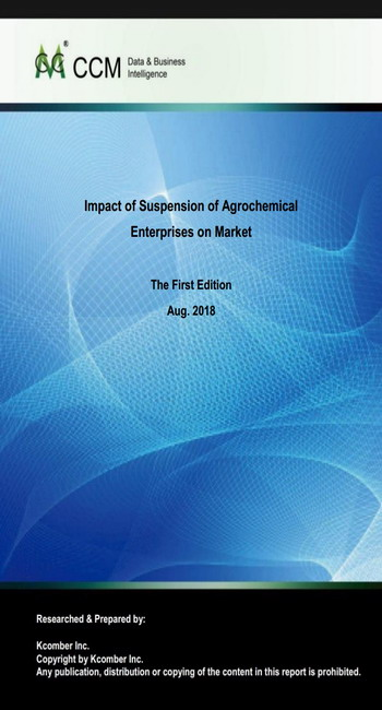 Impact of Suspension of Agrochemical Enterprises on Market
