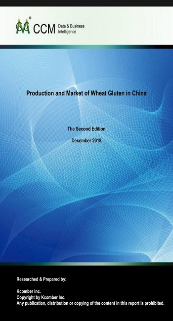 Production and Market of Wheat Gluten in China