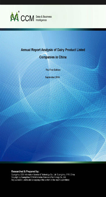 Annual Report Analysis of Dairy Product Listed Companies in China