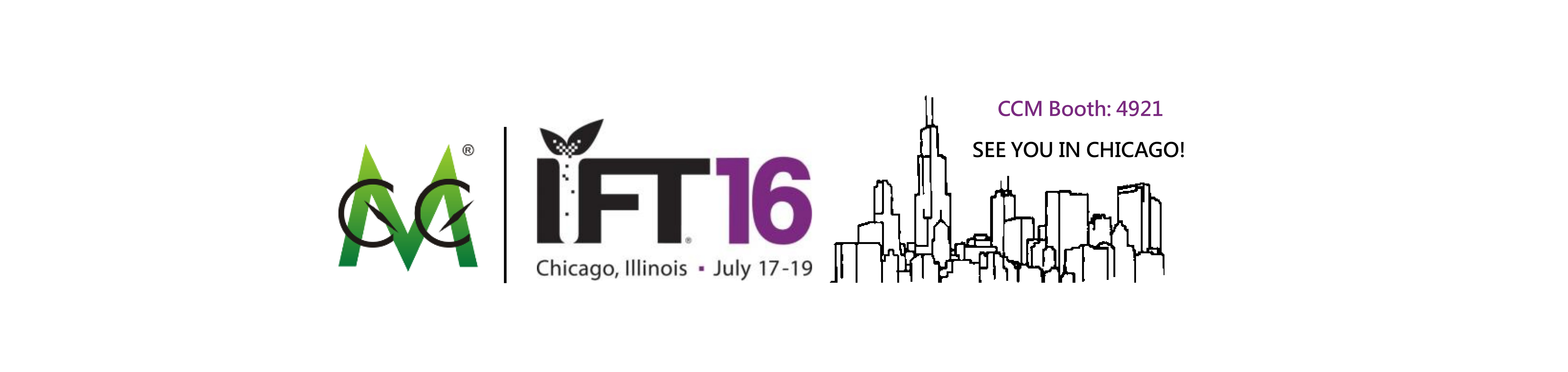 CCM to attend IFT16 in coming July in Chicago