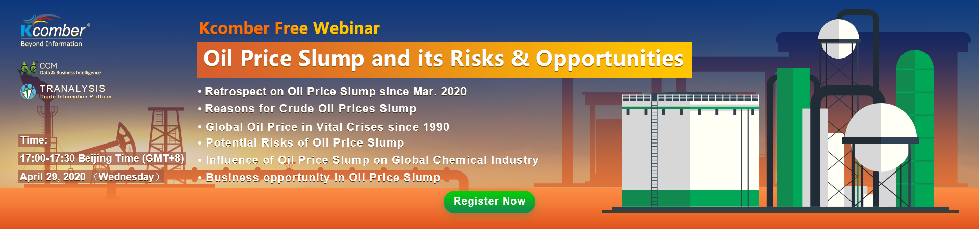 Oil Price Slump and its Risks & Opportunities