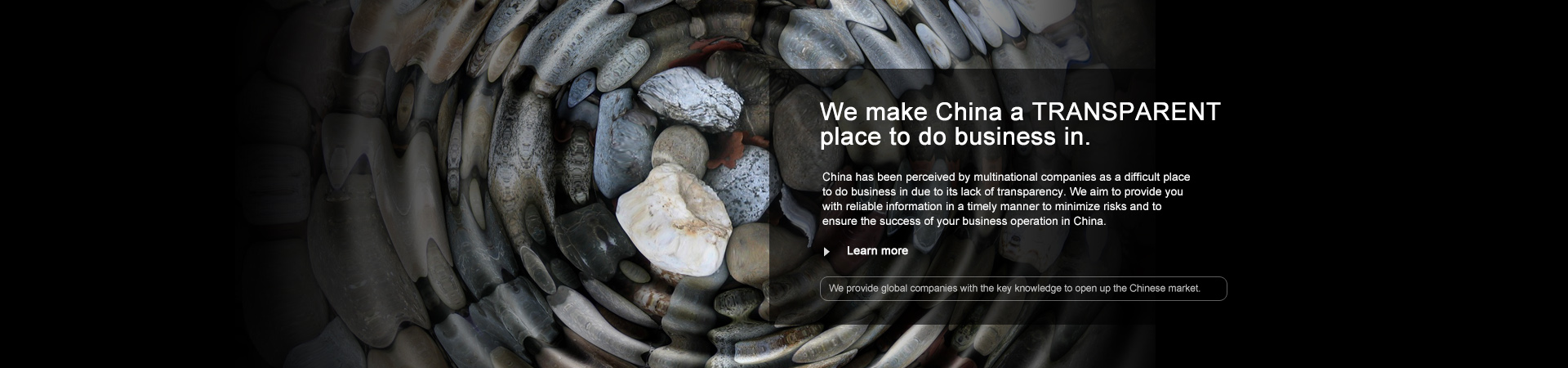 We make China a TRANSPARENT place to do business in.