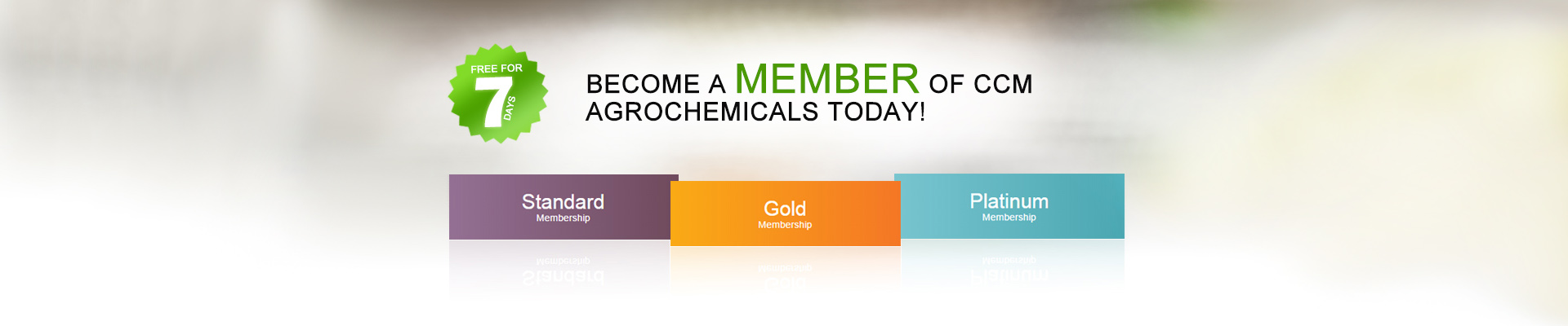 Become a member  of  CCM  Agrochemicals today!