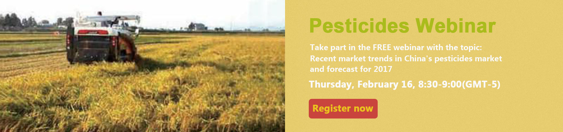 Pesticide Webinar- Market Information from china