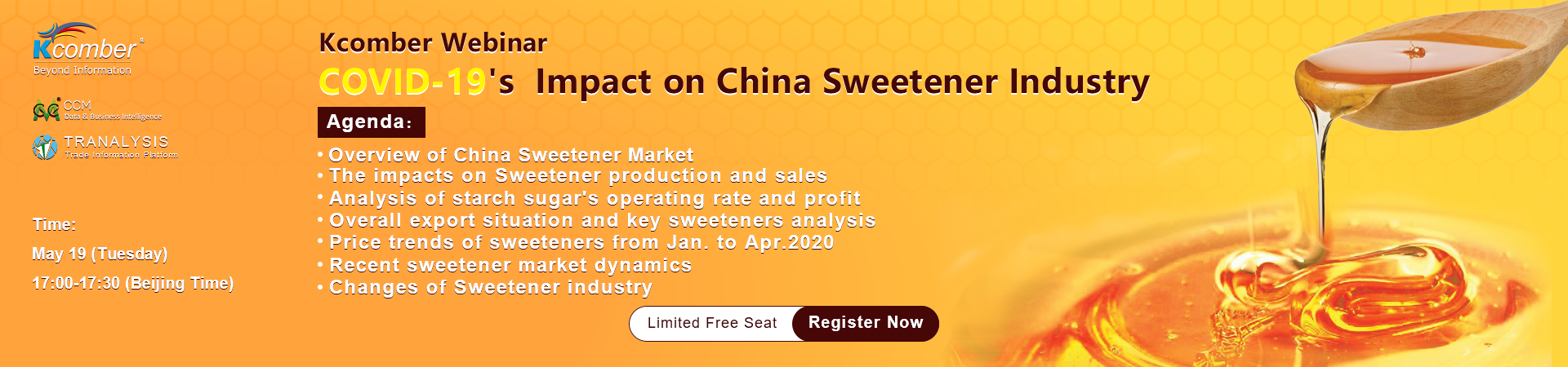 COVID-19's  Impacts on China Sweetener Industry