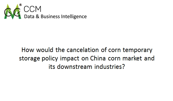 CCM Webinar: Impact of Cancelation of Corn Storage Policy in China