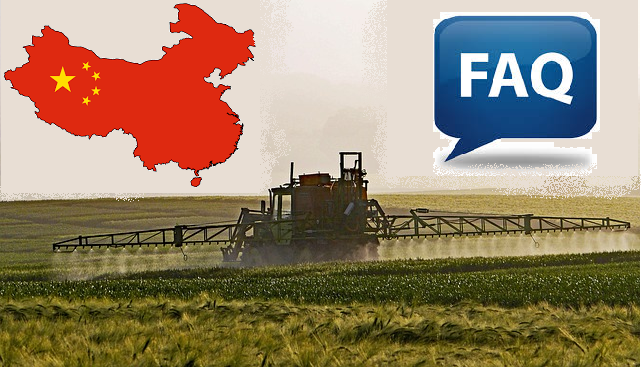 FAQ of pesticide producers on new regulations in China