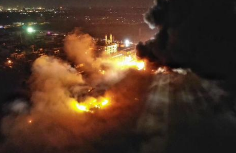 Chemical factory explosions in Liaoning